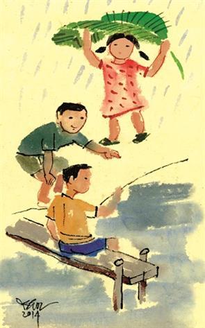 Mùa hè có cơn mưa rào