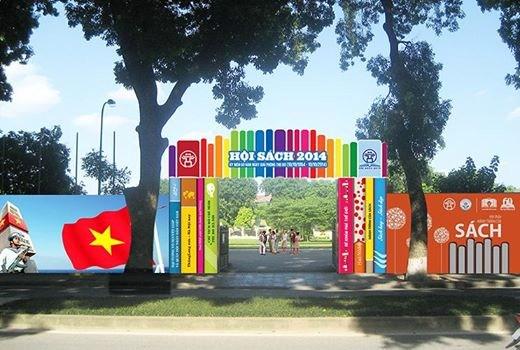 Hội sách Hà Nội 2014 được tổ chức tại Hoàng thành Thăng Long