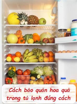 Cách Bảo Quản Hoa Quả Trong Tủ Lạnh Đúng Cách